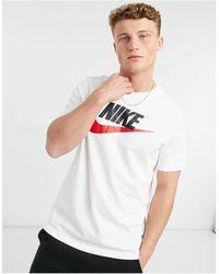 Nike Sportswear Futura Icon Tee White/ Black/ University Red - Blanco