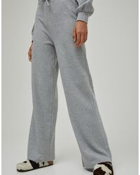 Pull&Bear Pantalon large doux au toucher (ensemble) - Gris