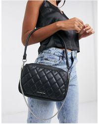 Bershka Sac porté épaule carré à matelassage losanges - Noir