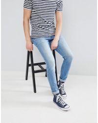 Dr. Denim - Clark Shaded Mid Blue Slim Jeans - Lyst