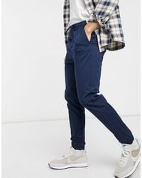 Only & Sons Cuffed Trouser - Blue