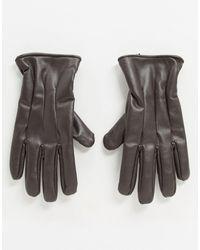 Jack & Jones – e Handschuhe aus Kunstleder - Braun