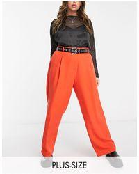 Collusion Plus - Pantalon coupe droite ajustée - Rouge