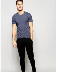 ASOS Loungewear Muscle T-Shirt And Skinny Joggers Set SAVE - Blau