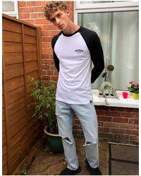 Dickies T-shirt bianca a maniche lunghe - Bianco