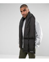 The New County - Puffer Scarf In Black - Lyst