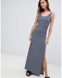 Vila - Stripe Maxi Dress - Lyst