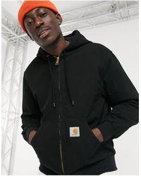Carhartt WIP Черная Куртка С Капюшоном Active-черный