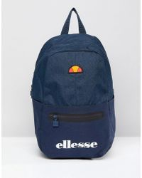 Ellesse | Backpack With Logo In Navy | Lyst