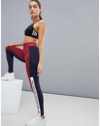 adidas - Leggings burdeos con tres rayas de la marca Training de - Lyst