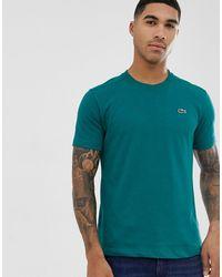 Lacoste Sport T-shirt con logo verde - - Blu