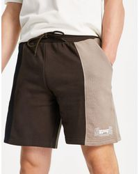 Good For Nothing Spliced Jersey Shorts - Black