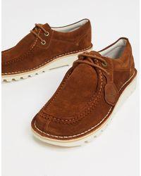 Kickers Светло-коричневые Замшевые Туфли Дерби В Стиле Casual Kick Wall Lo-коричневый