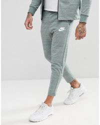 Nike - Advanced Knit Skinny Joggers In Green 885923-365 - Lyst