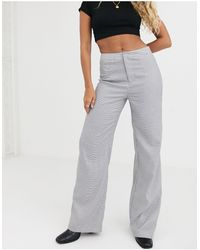 UNIQUE21 Check Grey Trousers