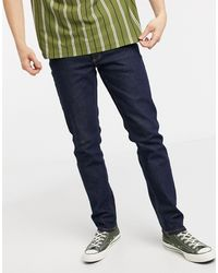 TOPMAN Organic Cotton Stretch Slim Jeans - Blue