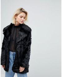 Warehouse - Faux Fur Jacket - Lyst