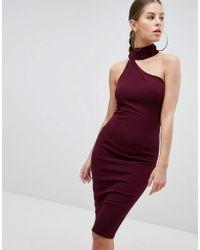 AX Paris - Pencil Dress With Cut Out Detail - Lyst