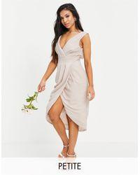 TFNC London Розовое Платье Миди С Запахом Для Подружки Невесты Bridesmaid-розовый Цвет
