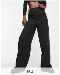 Missguided Co-ord Tailored Wide Leg jogger - Black