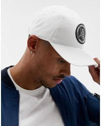 ASOS - Baseball Cap In White With Rubber Badge Detail - Lyst