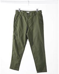 Jack & Jones Intelligence - Pantalon style charpentier coupe carotte - Kaki - Vert
