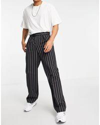 ASOS High Waisted Wide Leg Suit Pants - Black