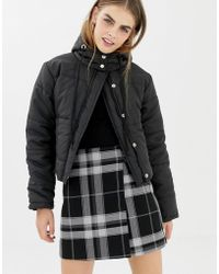Daisy Street - Cropped Padded Jacket With Hood - Lyst