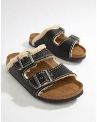 Birkenstock - Birki's Arizona Flat Sandals - Lyst