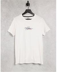 Hollister Camiseta blanca con logo - Blanco