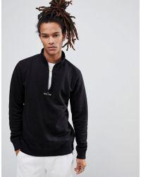 Volcom - Half Zip Sweatshirt With Logo - Lyst