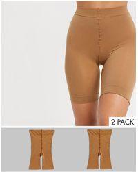 ASOS Confezione da 2 pantaloncini anti-sfregamento bronzo dorato - Neutro