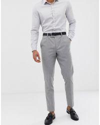 ASOS - Wedding Skinny Suit Trousers In Grey Twist Micro Texture - Lyst