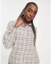 Missguided - Платье-рубашка В Стиле Oversized С Принтом В Зеленую Клетку И Свободной Спинкой -зеленый Цвет - Lyst