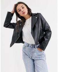 ASOS Ultimate Faux Leather Biker Jacket - Black