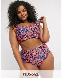 Simply Be Reversible Bikini Top - Multicolour