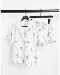 ASOS Pijama color crema - Blanco