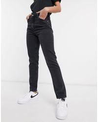Monki Kimomo High Waist Mom Jeans With Organic Cotton - Black