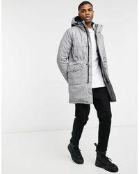 Wesc Plaid Winter Parka Jacket - Grey