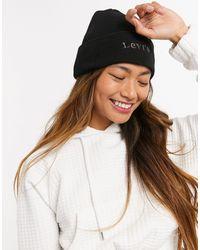 Levi's Черная Шапка-бини С Логотипом Спереди -черный - Многоцветный