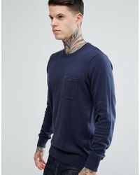 Ben Sherman | Long Sleeve Pocket Knit Jumper | Lyst