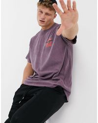 New Look Oversized T-shirt With Los Angeles Print - Purple