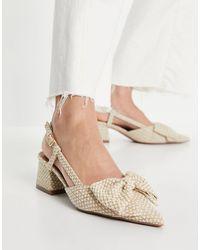 ASOS Spring - Chaussures à talon mi-haut avec nœud - Multicolore