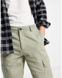 New Look Cuffed Cargo Pants - Green