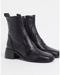 ASOS - Almond Premium Leather Boots - Lyst