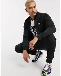 adidas Originals - Черная Олимпийка С Логотипом-трилистником -черный - Lyst