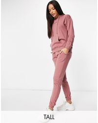 Missguided Co-ord Hoody And jogger Set - Pink