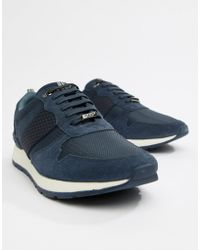 Ted Baker - Heby Trainers In Navy - Lyst