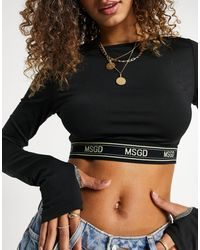 Missguided Co-ord Crop Top With Contrast Tape - Black