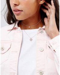 ASOS   Fine Filigree Multirow Necklace   Lyst
